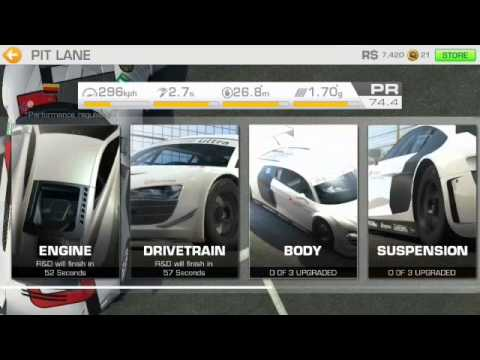 Real Racing 3 - Cheap & Fast Car Upgrades Hack (Android)