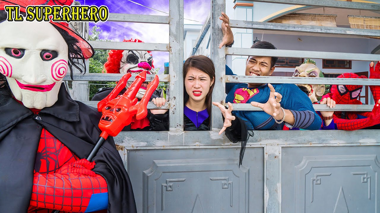 TL Superhero: Captain Spider Man SEAL X Warriors Nerf Guns Fight with kidnappers