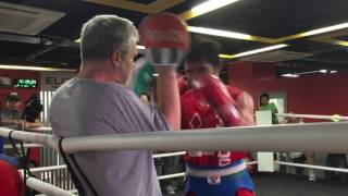 Manny Pacquiao trains for Jeff Horn fight