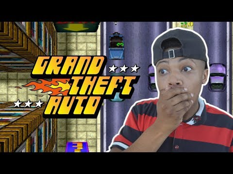 PLAYING THE FIRST GTA EVER MADE!!! (GRAND THEFT AUTO 1)