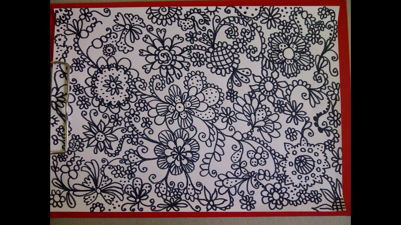 mandala zeichnen zentangle zeichnung simple doodle design youtube. Black Bedroom Furniture Sets. Home Design Ideas