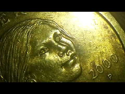 2000 P SACAGAWEA SCARY LEFT EYE MINT ERROR