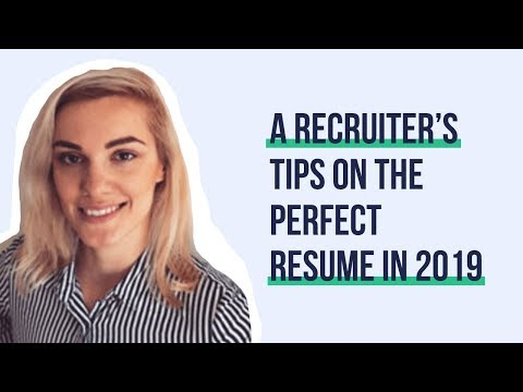 A Recruiter's Tips On The Perfect Resume In 2019   Hiring Humans #004