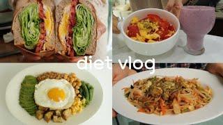 [VLOG]맛있는 다이어트레시피|컵누들팟타이|바질토마…