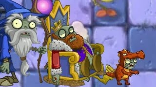 Plants Vs Zombies 2 Dark Ages: Part 2 Imp Dragon. Wizard Zombies, King Zombies