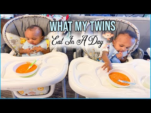 WHAT MY 6 MONTH OLD TWINS EAT IN A DAY | HOMEMADE SOLIDS | Faith Matini