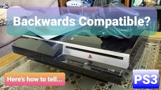 How To Identify A Backwards Compatible PlayStation 3