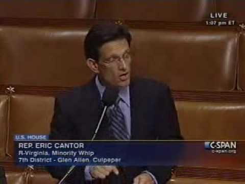 Majority Leader Hoyer Colloquy with Minority Whip Cantor on the House Floor