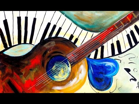 Easy painting Beginners on Canvas Music Abstract Home Painting Party