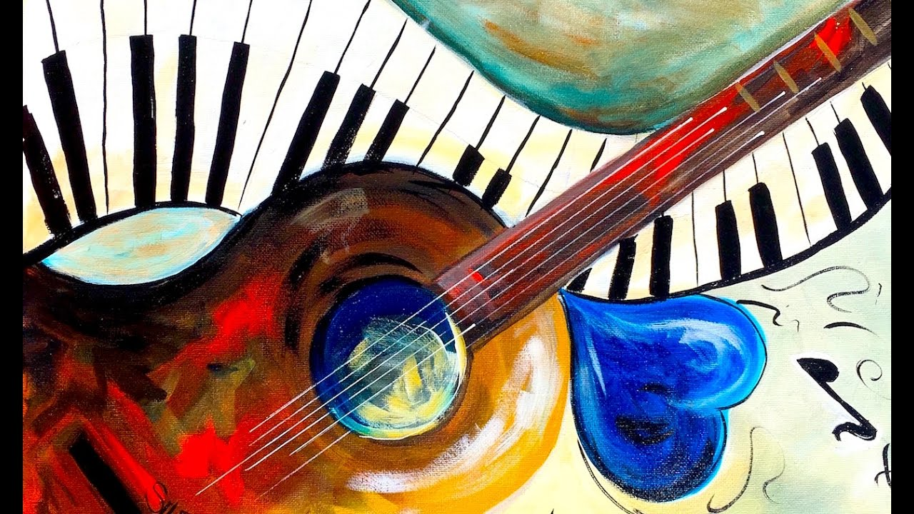 Easy painting Beginners on Canvas Music Abstract Home ...