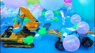 Construction Vehicle Toys In The swimming pool | Excavator , Wheel loader