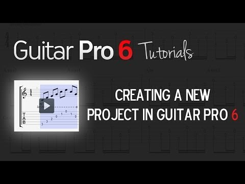 Chap. 2 - 1 Creating a New Project in Guitar Pro 6