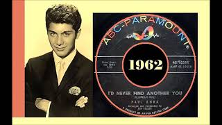 Paul Anka - I'd Never Find Another You