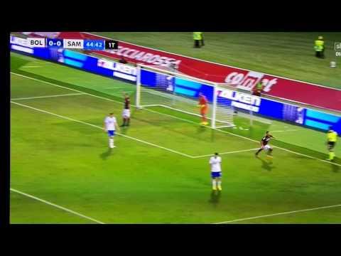 Simone Verdi amazing volley goal - Bologna Sampdoria (Serie A)