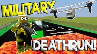 LEGO MILITARY OBSTACLE COURSE TRAINING! - Brick Rigs Multiplayer Gameplay - Lego Military Deathrun