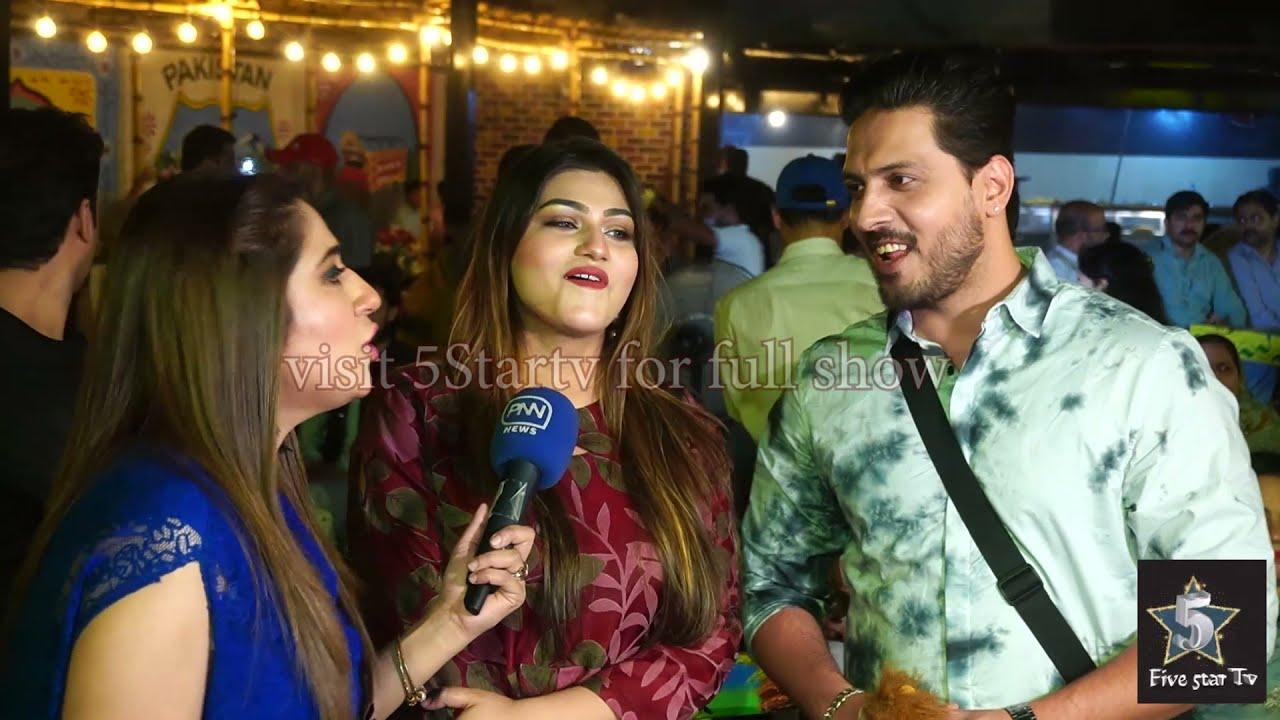 Fiza and Muneeb at chai khana Lahore Grand opening 2021 | 5startv