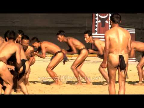 Lotha Naga Tribe Showcasing Old Folk Dance