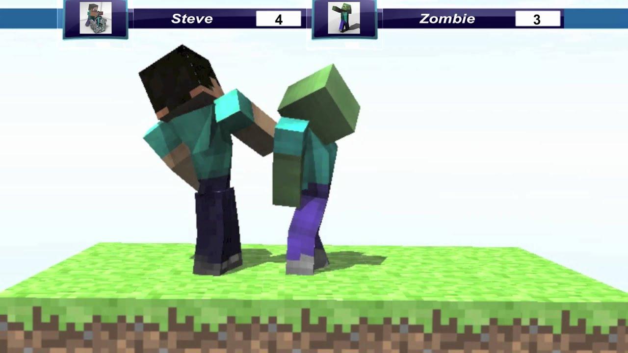 Minecraft Steve Vs Zombie - Jepen Gel m