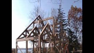 Scissor Truss Timber Frame Raising In Auburn New York