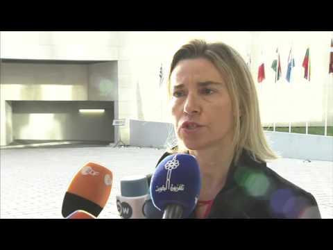 Foreign Affairs Council - Doorstep Federica Mogherini