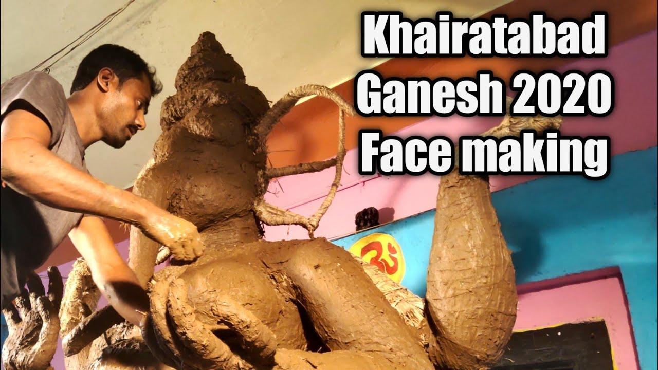Khairatabad Maha Ganesh 2020 | Eco friendly clay Idol | khairatabad ganesh idol making 2020