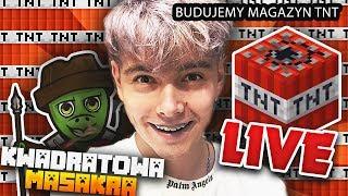 BUDUJEMY MAGAZYN TNT NA PRANKI! - KWADRATOWA MASAKRA