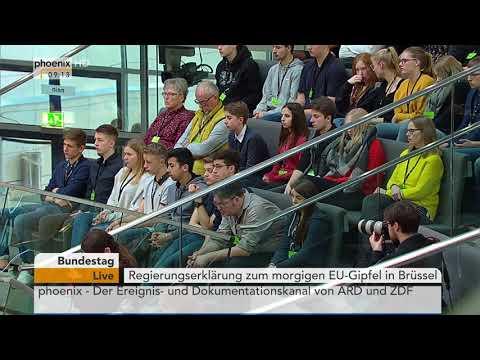 Regierungserklärung von Angela Merkel zur Tagung der Regierungschefs der EU-27 am 22.02.18