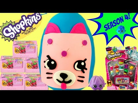 SHOPKINS SEASON 4 Special Edition Petkin Play Doh Surprise Egg | 12 Pack Blind Baskets
