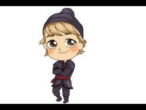 How to draw Chibi Kristoff from Frozen - YouTube