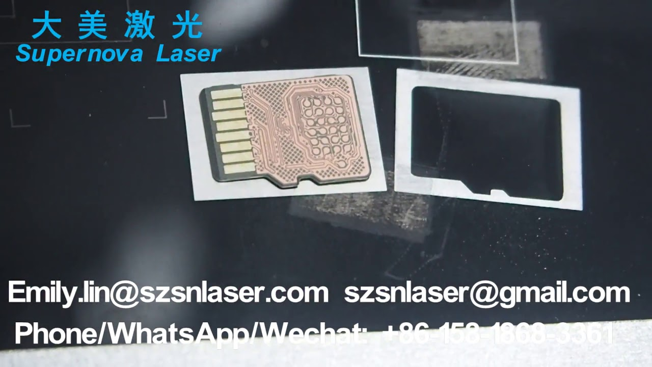 Laser Marking Machines Remove Micro SD Card for Data Recovery by Laser  Machine
