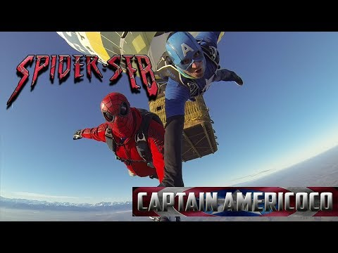 hot air Balloon festival Spider man skydive exit 2017
