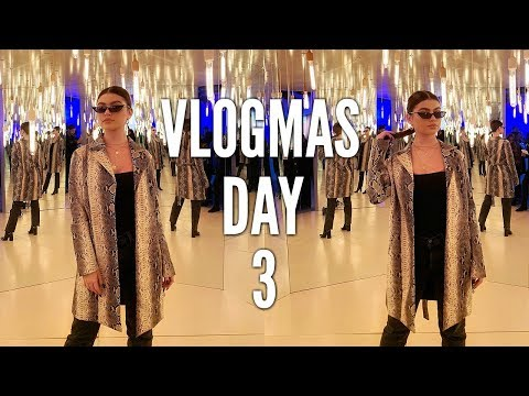vlogmas day 3 | revlon event, college projects, & taking pics!