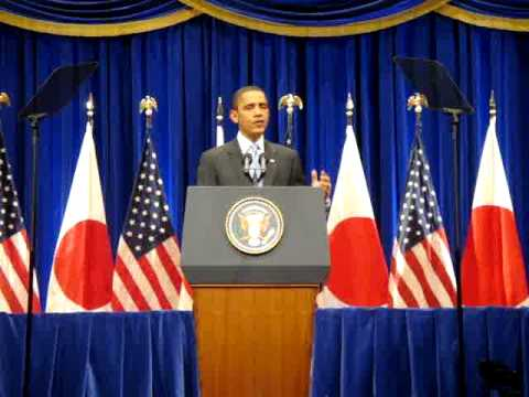 Barack Obama speaks in Tokyo, Japan - 11/14/09