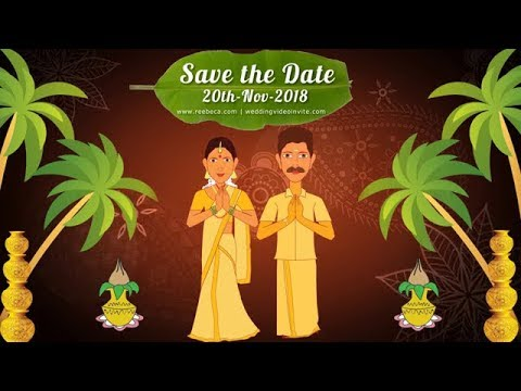 Nair Wedding Invite South Indian Animated Wedding Video Invitation Youtube