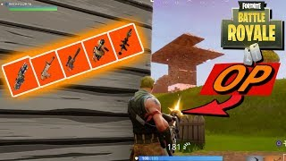 Fortnite Glitched? 5 Scars in one Game! All Legendary Weapons! New Legendary MiniGun!