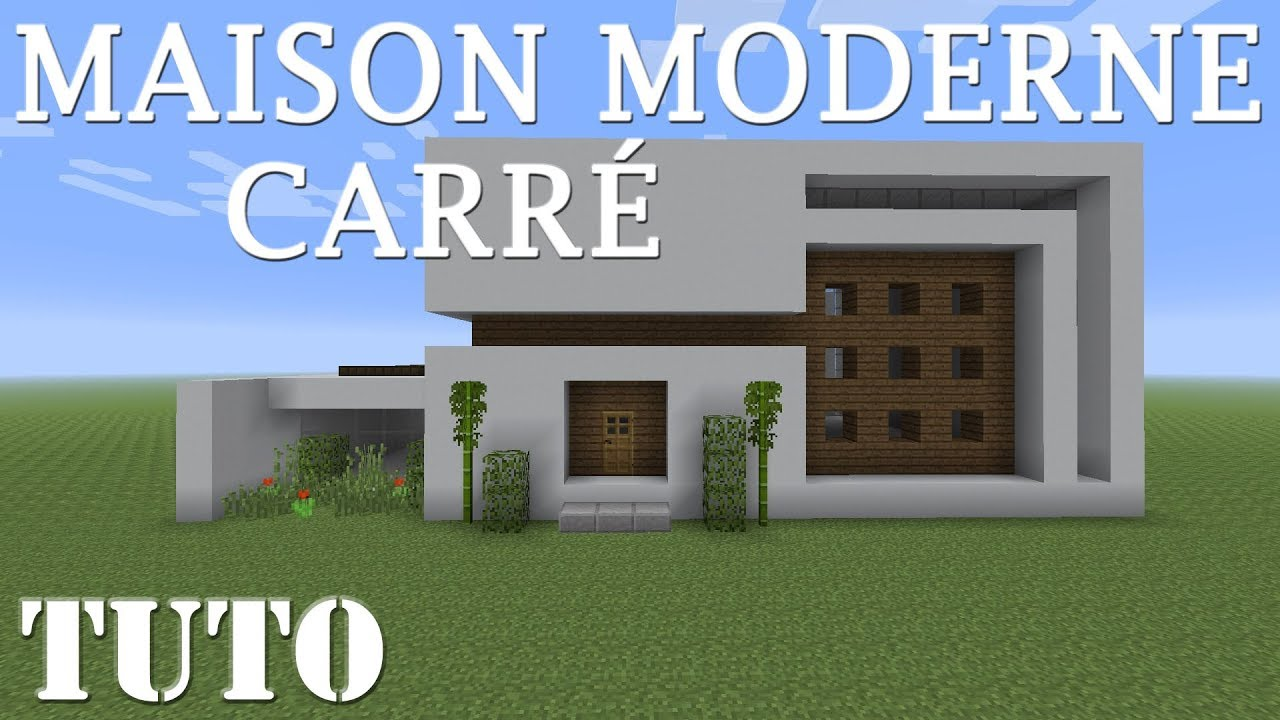 MINECRAFT - Maison moderne carrée (ps4) - YouTube