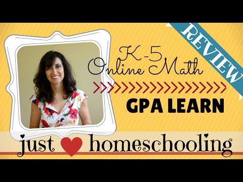 GPA LEARN GPALOVEMATH Review ~ Homeschool Online Math K-5