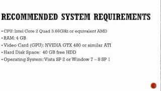 GTA V Pc requirements.