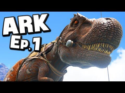 "ARK: Survival Evolved | Ep 1 : ""My JURASSIC WORLD Dream Come True!"" (Gameplay)"