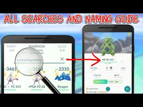 All Searches and Naming Tips For Pokemon In Pokemon Go