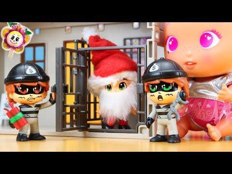 🍓Bébés BELLIES OH NON! SANTA CLAUS EN PRISON! La bande PINYPON enferme PÈRE NOËL et vole les jouets