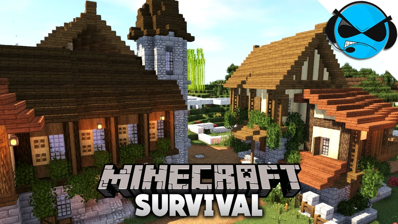 How To Build Diagonal Houses Minecraft 1 14 Vanilla Survival Youtube