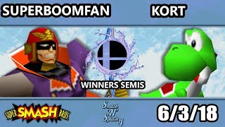 SnS 4 - PG | SuPeRbOoMfAn (Falcon) Vs. MSD | Kort (Yoshi, Fox) SSB64 Winners Semis - Smash 64