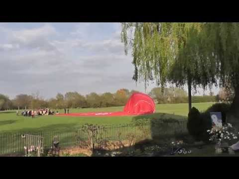 Virgin Hot Air Balloon Lands In Abingdon On The Thames