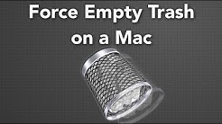 How To Force Empty The Trash On Mac OS X - Very Simple