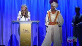 Linda Larkin (speaking voice of Jasmine) accepts Disney Legends award at the 2011 D23 Expo