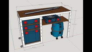 Comment fabriquer un établi multifonction Type MFT/Build an MFT workbench part1