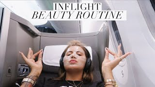 IN-FLIGHT BEAUTY ROUTINE & PACKING MY PLANE BAG | JAMIE GENEVIEVE