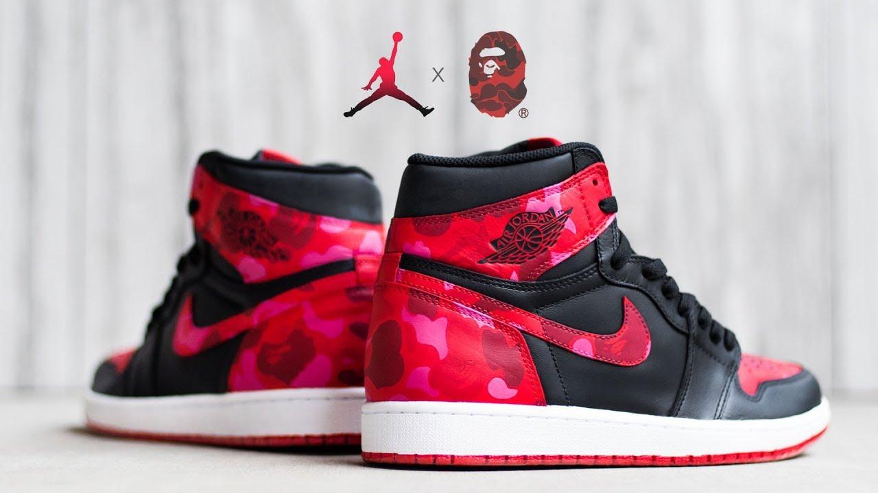 Jordan 1 Bape Custom! - YouTube