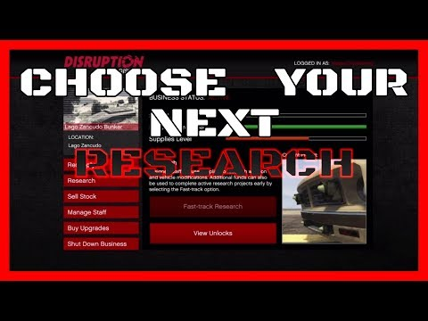 *SOLO*   GTA 5 ONLINE   Choose Your Next Research Project   PS4 XBOX1 PC *SUPER EASY*